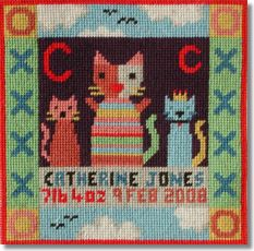 Jolly Red 'C for Cat' Tapestry Kit