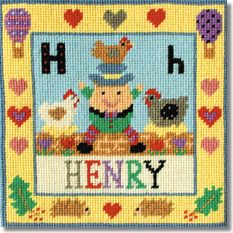 Jolly Red 'H for Humpty' Tapestry Kit