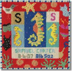 Jolly Red 'S for Seahorse' Tapestry Kit