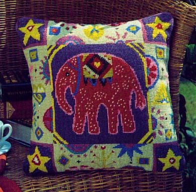 Jolly Red 'Indian Elephant' Tapestry Kit
