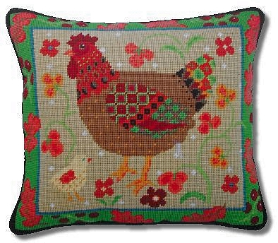 Jolly Red 'Old English Hen' Tapestry Kit
