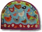 Jolly Red 'Chick Chick Chicken' Tapestry Teapot Cosy