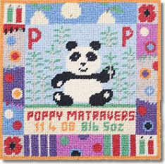 Jolly Red 'P is for Panda' Tapestry Kit
