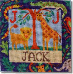 Jolly Red 'J is for Jungle' Tapestry Kit