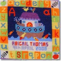 Jolly Red 'A for Ark' Tapestry Kit