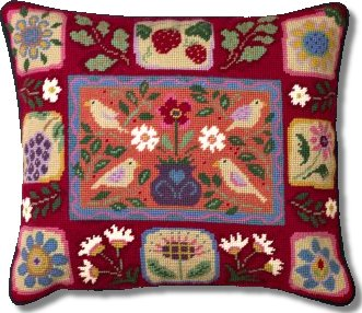 Jolly Red 'Arts and Crafts Tiles' Tapestry Kit