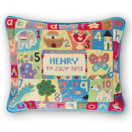 Jolly Red 'ABC, 1 2 3' Tapestry Kit