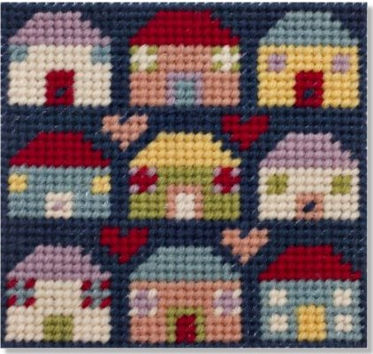 Jolly Red 'Home and Heart' Starter Tapestry Kit