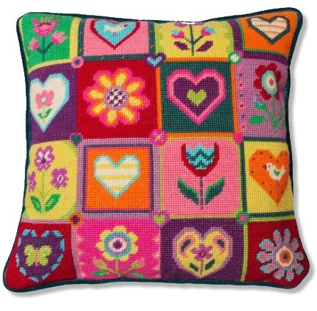 Jolly Red 'Summer Patchwork' Tapestry Kit