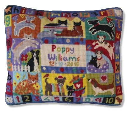 Jolly Red 'Cats & Dogs Sampler' Tapestry Kit