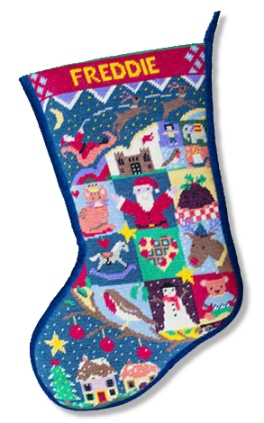 Jolly Red 'Silent Night' Tapestry Stocking Kit