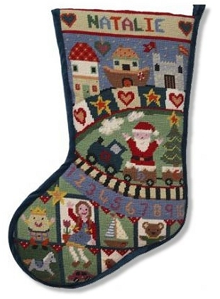 Jolly Red 'Toy Box' Tapestry Stocking Kit