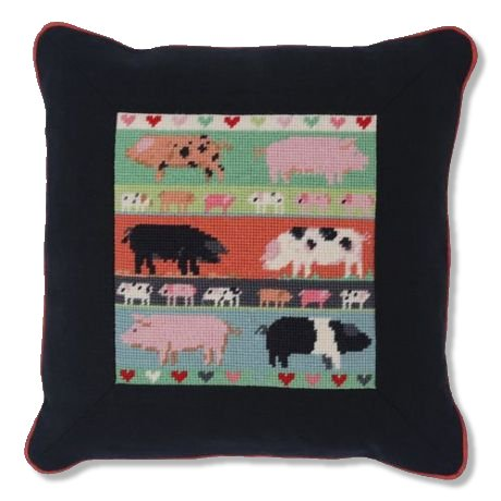 Jolly Red 'Pigs & Piglets' Tapestry Kit