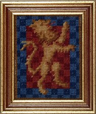 Millennia Designs Mini-Medieval Tapestry Kit: Red Lion