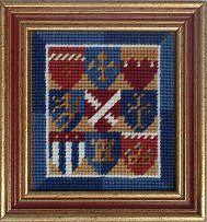 Millennia Designs Mini-Medieval Tapestry Kit: Heraldic Shields