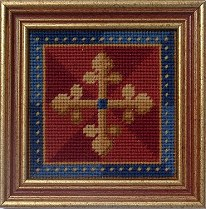 Millennia Designs Mini-Medieval Tapestry Kit: Red Cross
