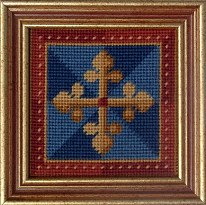 Millennia Designs Mini-Medieval Tapestry Kit: Blue Cross