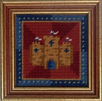 Millennia Designs Mini-Medieval Tapestry Kit: Red Castle