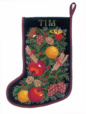 One Off Chimney Black Garland Tapestry Stocking Kit