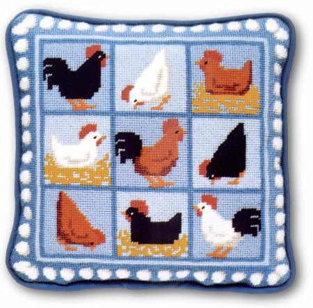One Off Blue Hens Tapestry Kit