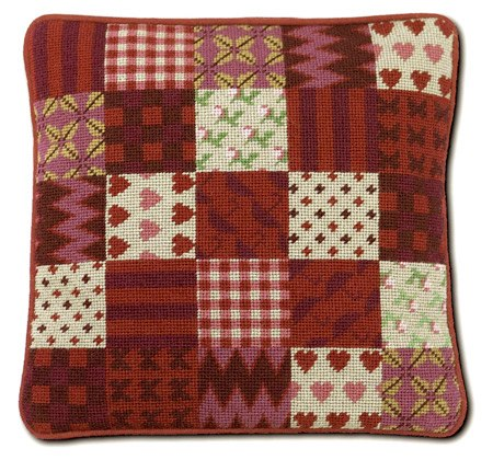 One Off Red Patchwork Tapestry Kit
