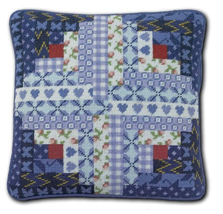 One Off Log Cabin Patchwork Tapestry Kit