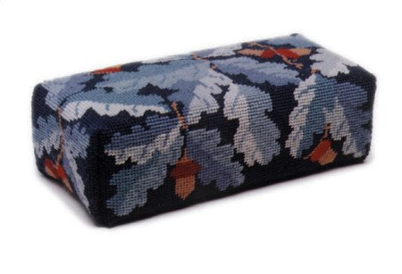 One Off Blue Acorns Doorstop Tapestry Kit