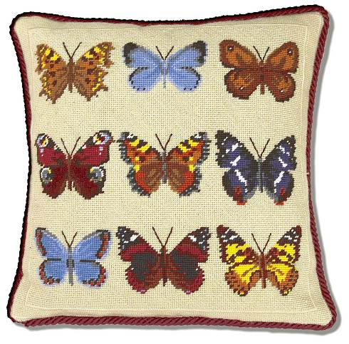 One Off Butterfly Tapestry Cushion Kit