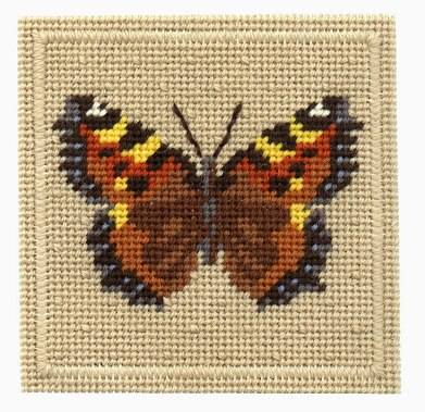 One Off Tortoiseshell Butterfly Tapestry Pincushion Kit