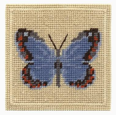 One Off Common Blue Butterfly Tapestry Pincushion Kit