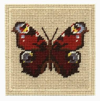 One Off Peacock Butterfly Tapestry Pincushion Kit