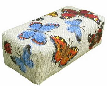 One Off Butterfly Doorstop Tapestry Kit