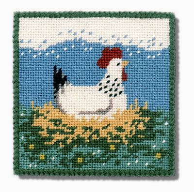 One Off Broody Hen Tapestry Pincushion Kit