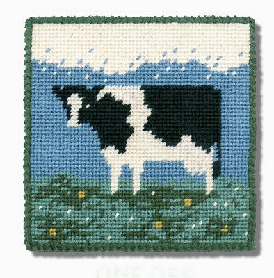 One Off Cow Tapestry Pincushion Kit