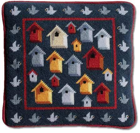 One Off Bird Houses Tapestry Kit
