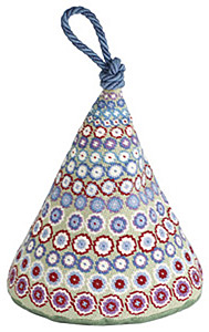 One Off Green Millefiori Tapestry Doorstop