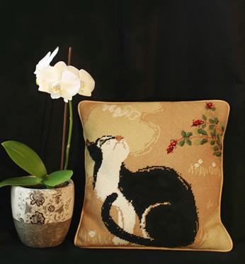 One Off Oriental Cat Tapestry Kit