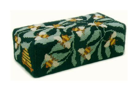One Off Bees Doorstop Tapestry Kit - Black