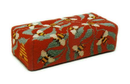 One Off Bees Doorstop Tapestry Kit - Red