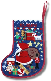 One Off 'Starry Stockings' Tapestry Kit - Midnight Blue
