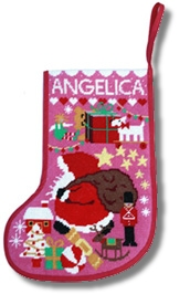 One Off 'Starry Stockings' Tapestry Kit - Pink