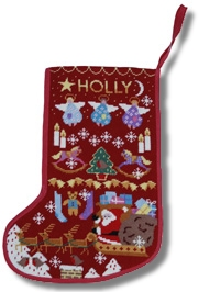 One Off 'Red Santa Stocking' Tapestry Kit