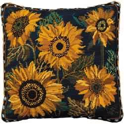 Primavera Blue Sunflower Dance Tapestry Kit