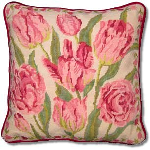 Primavera Cream China Tulips Tapestry Kit