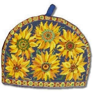 Primavera Blue Sunflower Teacosy Tapestry Kit