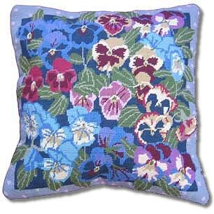 Primavera Winter Pansies Tapestry Kit