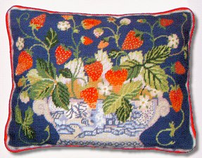Primavera Blue Strawberry Fair Tapestry Kit