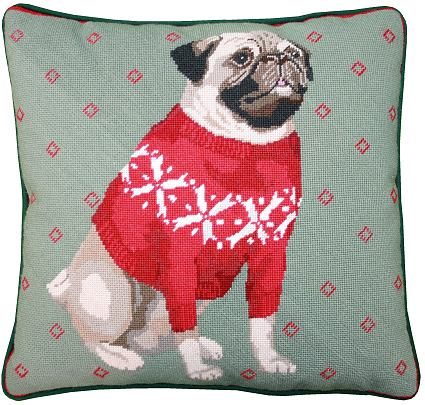 Stitchery Tapestry Kit: Pug in a Pully