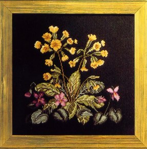 Stitchery Trammed Tapestry Canvas: Cowslips and Violets