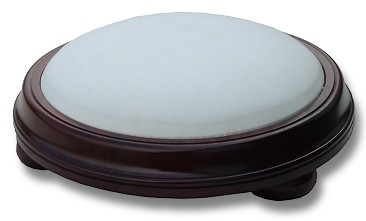 Round Stool with Bun Feet